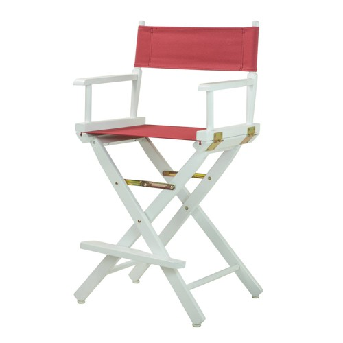 Burgundy Cntr Height Director's Chair-White, Red