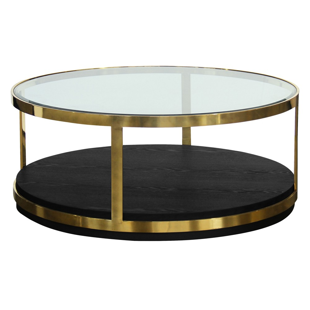 Armen Living Hattie Contemporary Coffee Table Black
