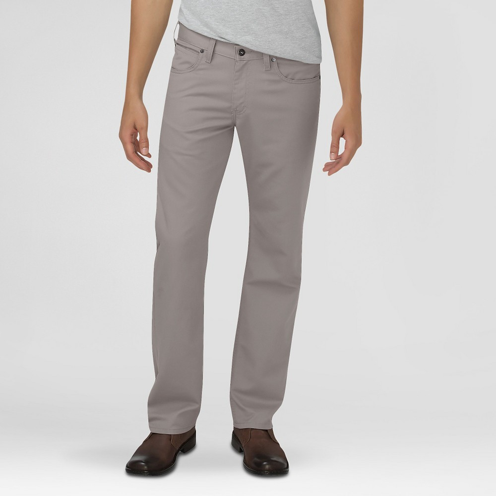 Dickies Men's Regular Fit Straight Leg 5-Pocket Pants Silver 40X32