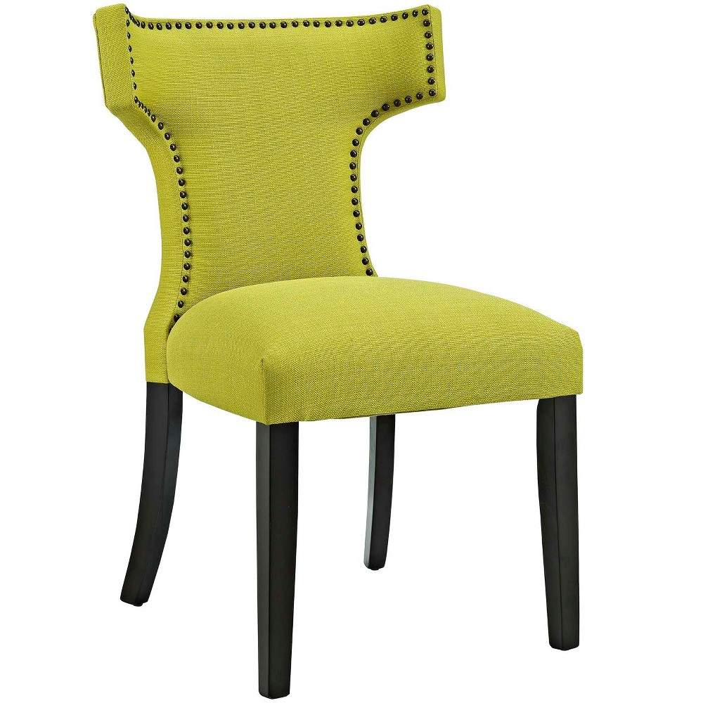 Curve Fabric Dining Chair Lime Modway