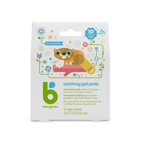 Babyganics Teething Gel Pods - 10ct - image 1 of 3