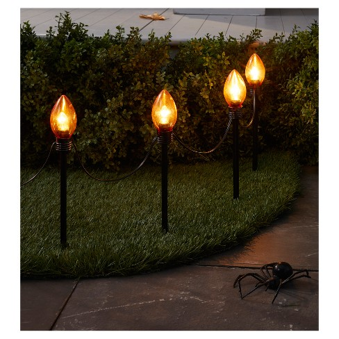 10ct incandescent halloween orange c bulb style pathway lights clear hyde and eek boutique target