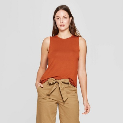 view Women's Sleeveless Crewneck Tank Top - A New Day on target.com. Opens in a new tab.