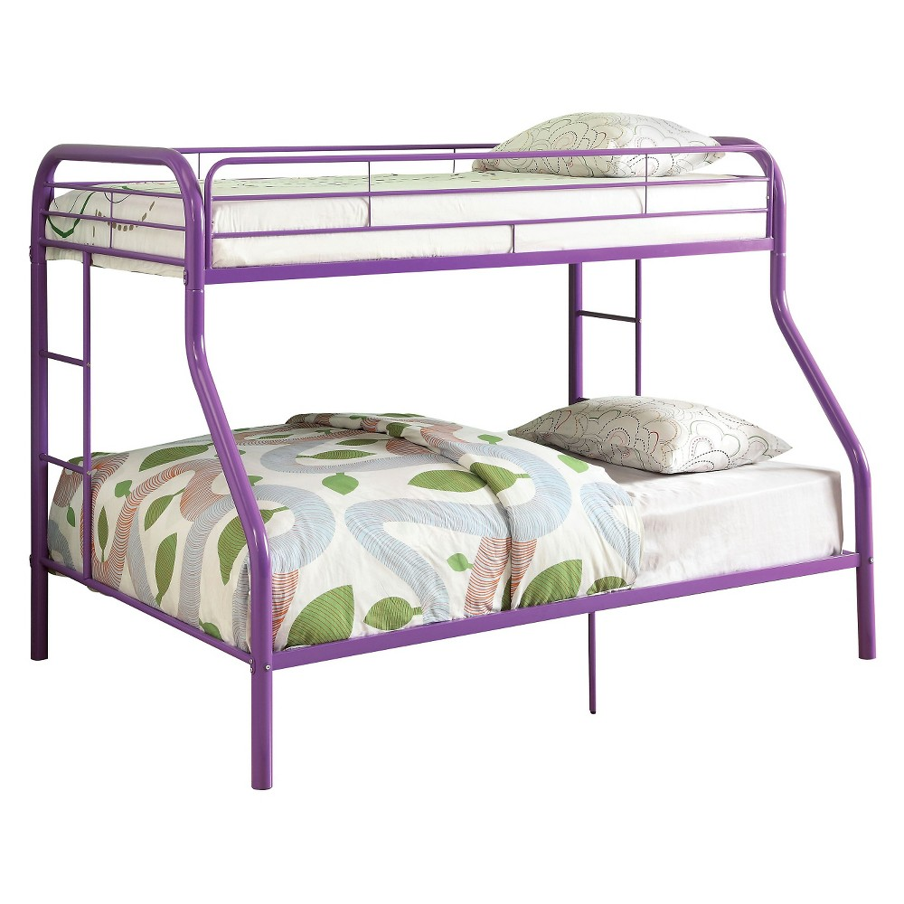 Tritan Kids Bunk Bed - Purple(Twin/Full) - Acme