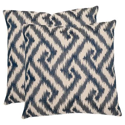 Blue Teddy Throw Pillows - 2 Pack - (18 x18 )- Safavieh®