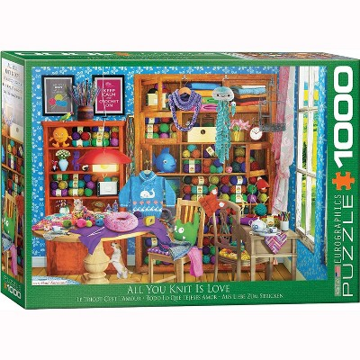 Eurographics Inc. All You Knit is Love by Paul Normand 1000 Piece Jigsaw Puzzle