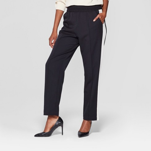 Women's Side Striped Ankle Trouser - Who What Wear™ Black XS - image 1 of 3
