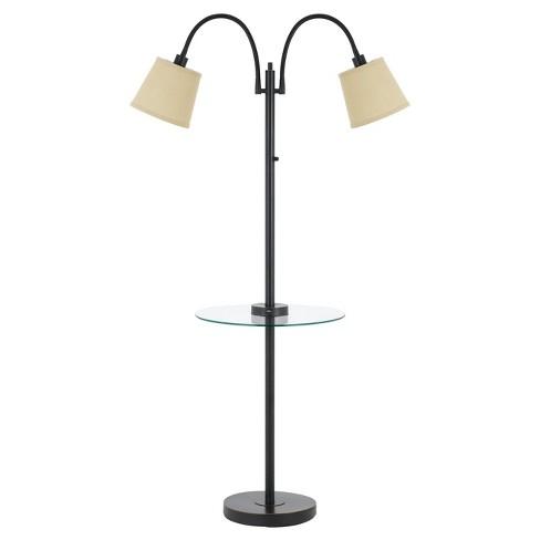 Gail Metal Double Gooseneck Floor Lamp