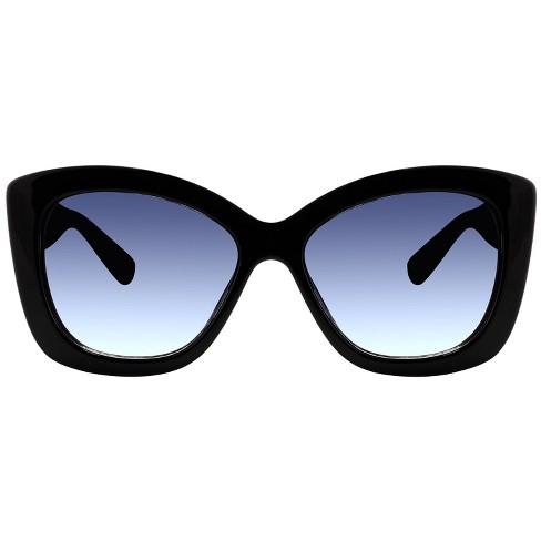 Women's Plastic Cateye Sunglasses - A New Day™ Black - image 1 of 2