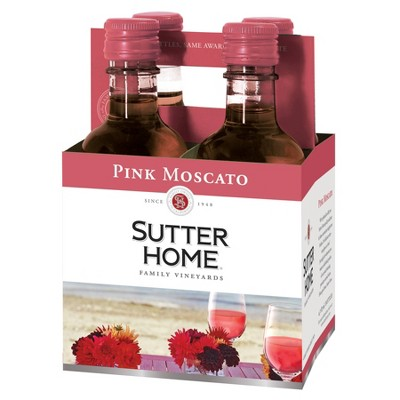 Sutter Home Pink Moscato Wine - 4pk/187ml Bottles