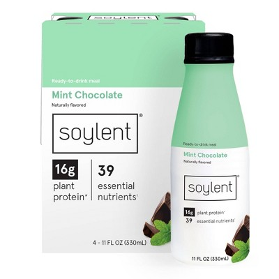 Soylent Nutritional Shake - Mint Chocolate - 4pk/11 fl oz