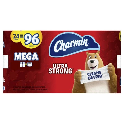 Charmin Ultra Strong Toilet Paper - 24 Mega Rolls