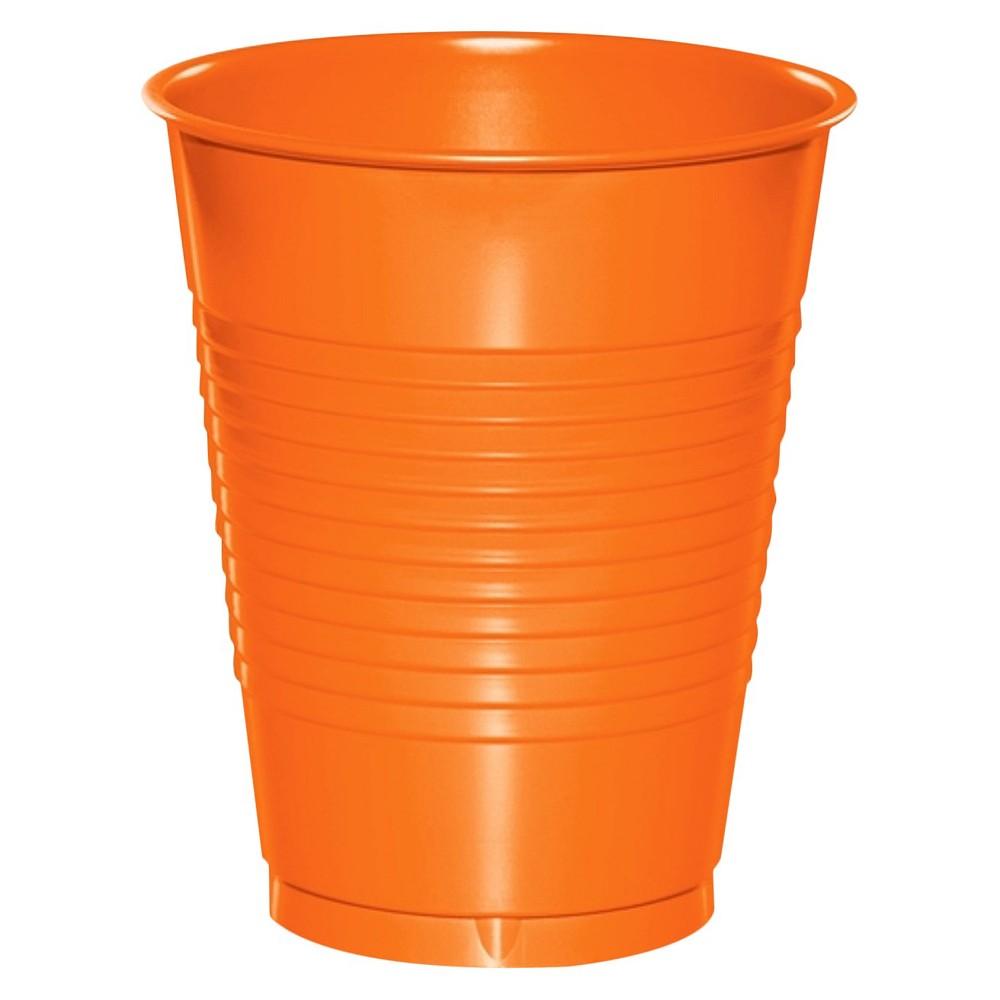 20ct Sunkissed Orange Disposable Cups