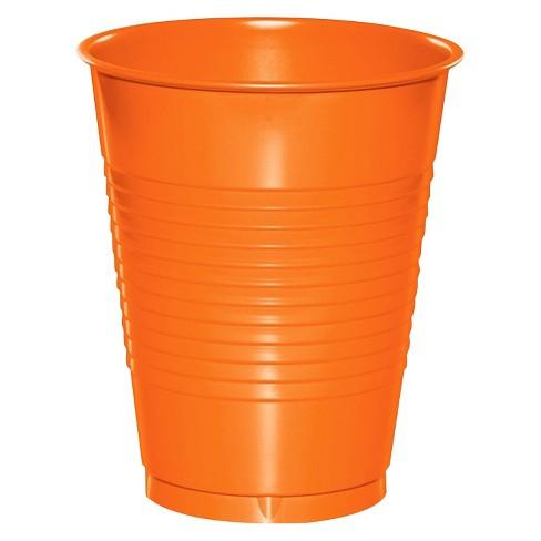 20ct Sunkissed Orange Disposable Cups Target
