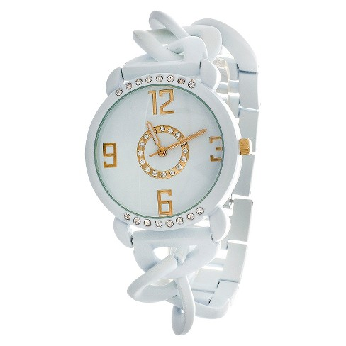 Women's Metal Chain Analog Watch - White - Xhilaration™ - image 1 of 2