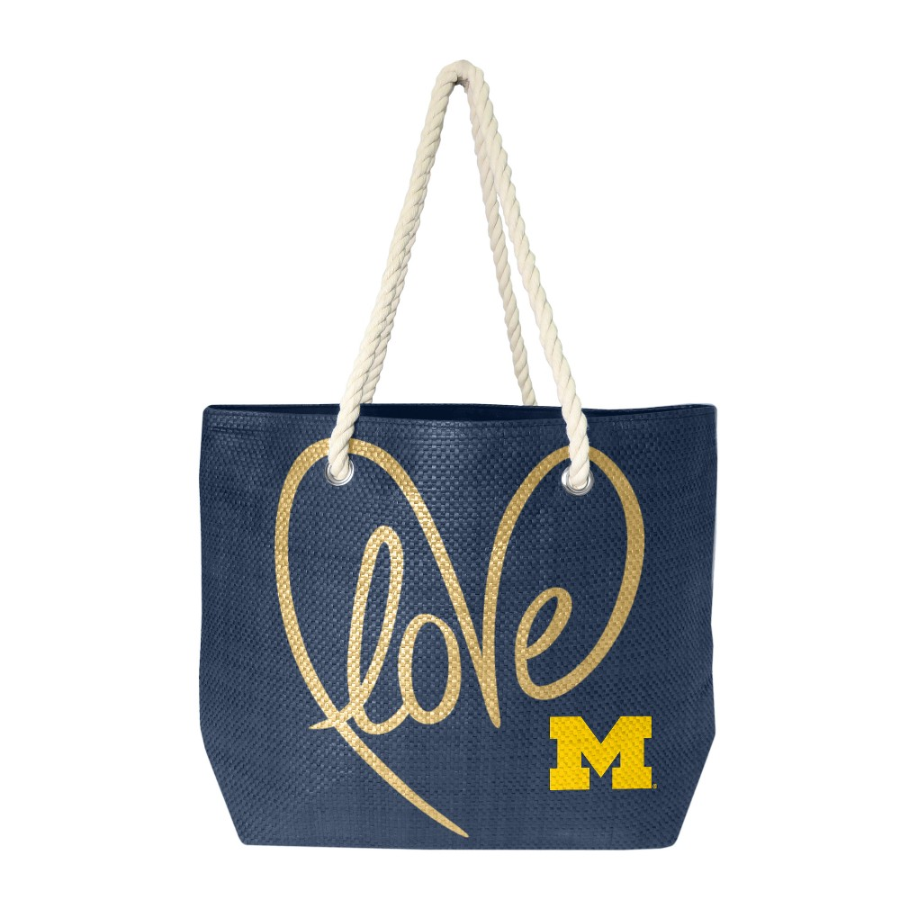 NCAA Michigan Wolverines Little Earth Rope Tote, Adult Unisex