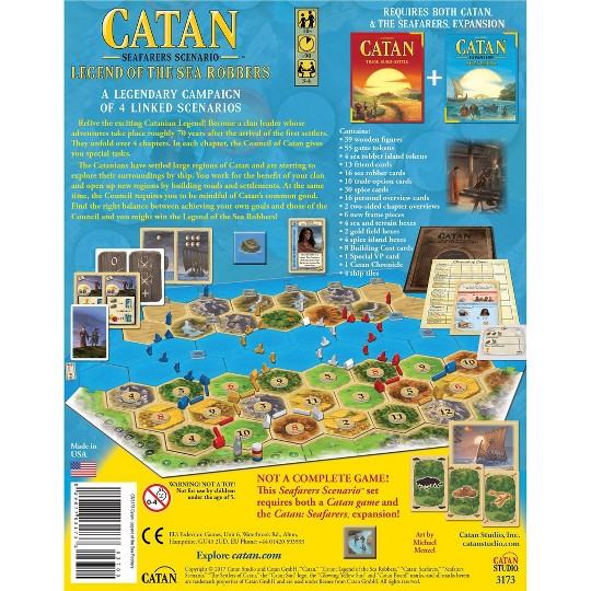 Catan Studios Catan: Legend of the Sea Robbers Board Game image number null