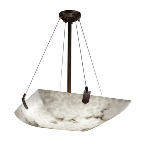 """Justice Design Group LumenAria 8 Light 39"""" Wide Pendant with Faux Alabaster Resin Shade - image 1 of 1"""