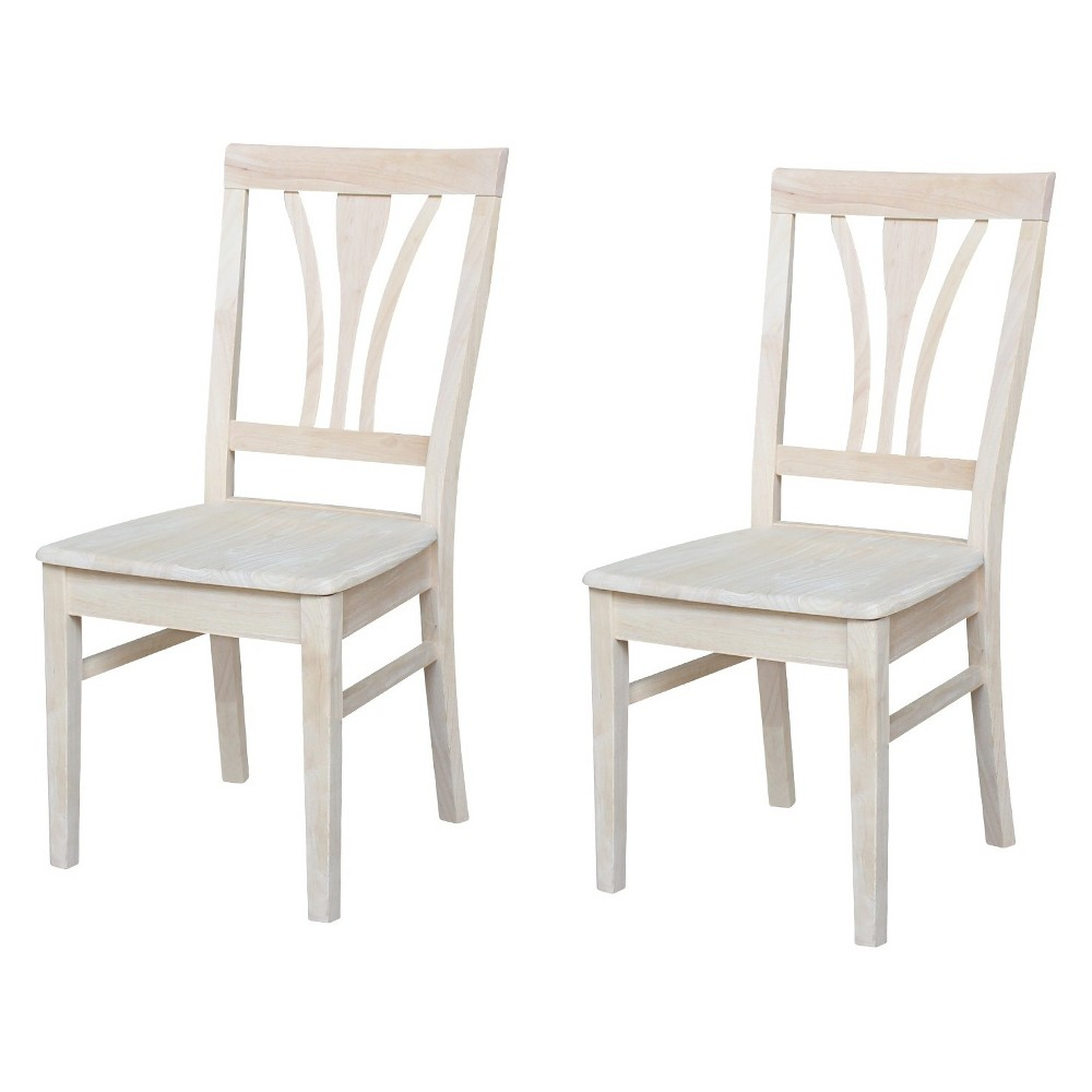 Set Of 2 Fanback Chair Unfinished - International Concepts