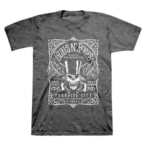 Men S Big Tall Guns N Roses T Shirt Black Xxxl Target