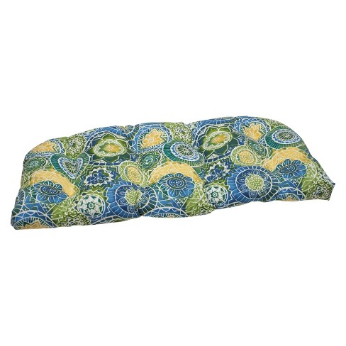 Pillow Perfect Outdoor Wicker Loveseat Cushion - Omnia - image 1 of 3