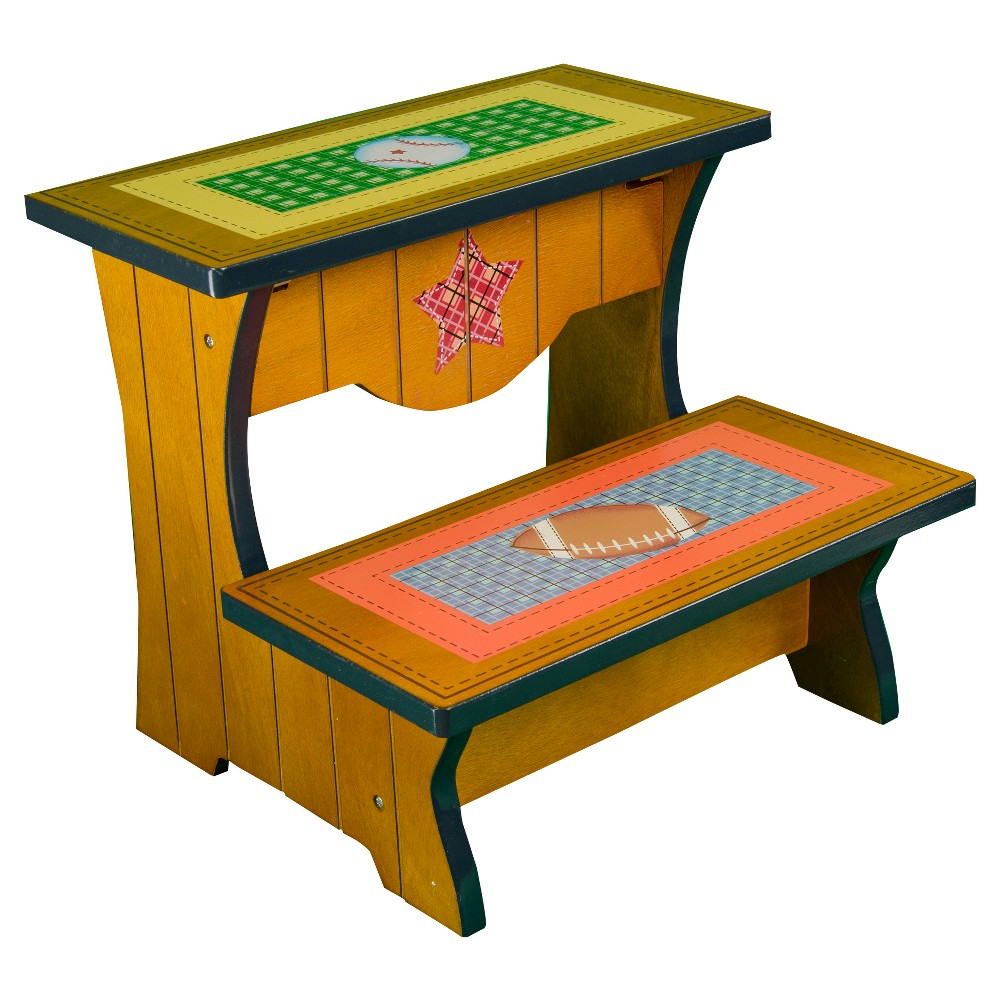 Image of Fantasy Fields Lil' Sports Fan Step Stool - Teamson