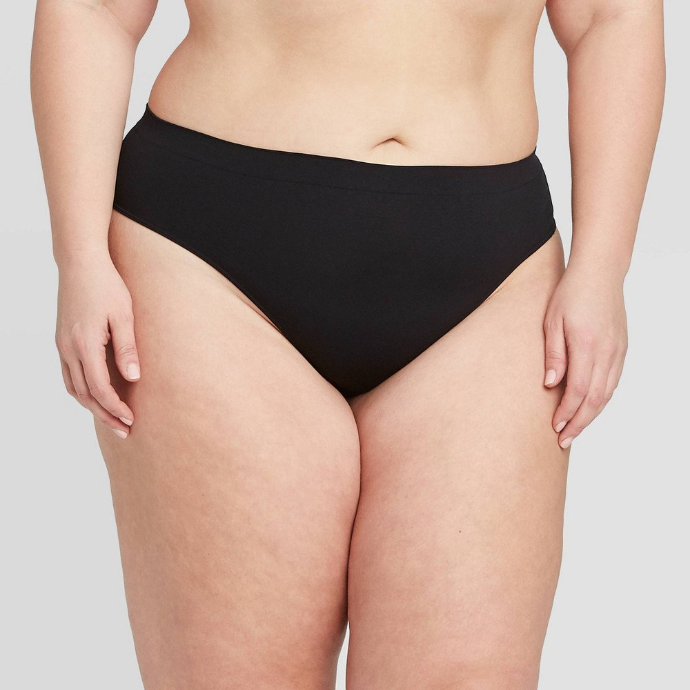 Women 39 S Plus Size Seamless Thong Auden 8482 Black 4x