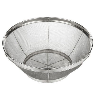 Juvale Stainless Steel Colander/Mesh Colander Strainer Basket - For Kitchen Straining, Draining, Salad, Spaghetti and Noodles - 10.25 x 4 Inches