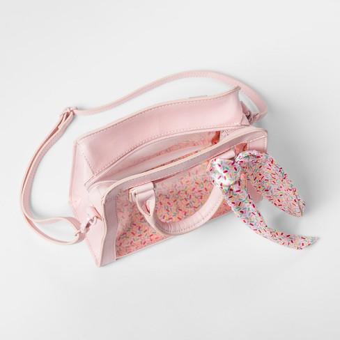 20849e7031 Girls  Top Handle Crossbody Bag - Art Class™ Pink   Target