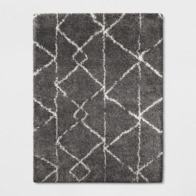 9'X12' Geometric Design Woven Area Rugs Gray - Project 62™