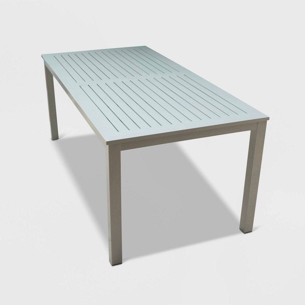 Skyline Aluminum Outdoor Rectangle Dining Table - Gray - Courtyard Casual