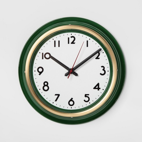 Large Wall Clock Green Threshold