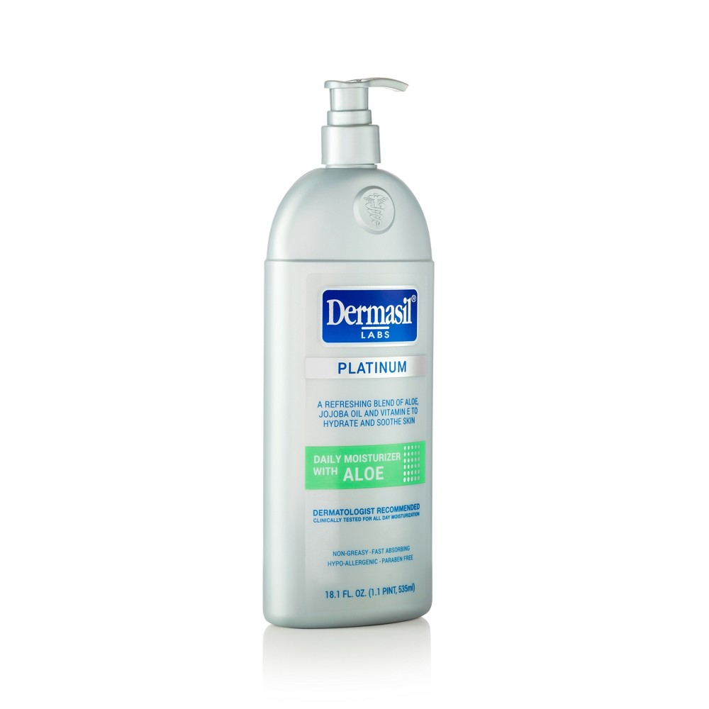 Image of Dermasil Platinum All Day Moisturizing Body Lotion With Aloe - 18.1 fl oz