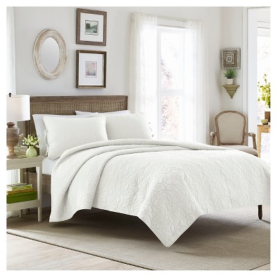 Felicity Quilt And Sham Set Full/Queen White - Laura Ashley™