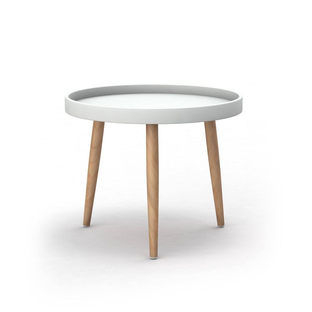 Image of Kurv Chat Table White/Natural - Jamesdar