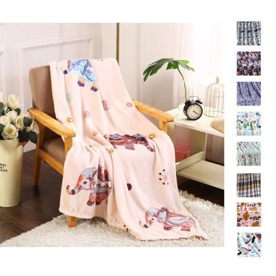 "Extra Cozy and Comfy Microplush Throw Blanket (50"" x 60"") Boho Elephant"