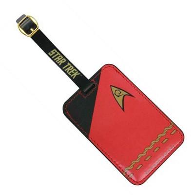 Crowded Coop, LLC Star Trek Red Uniform Luggage Tag