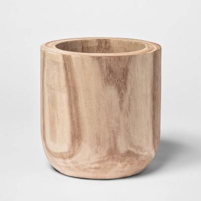 "7.7"" x 7.1"" Wood Planter Natural - Threshold™"