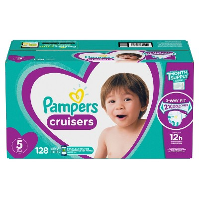 Pampers Cruisers Disposable Diapers One Month Supply - Size 5 (128ct)