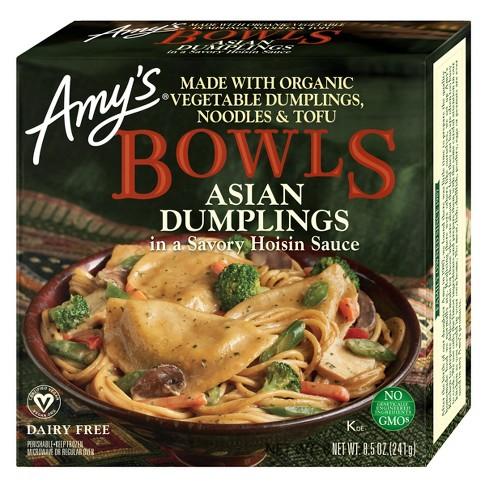 Amy's Frozen Asian Dumplings with Hoisin Sauce Bowl - 8.5oz - image 1 of 1
