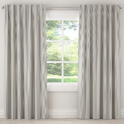 Blackout Curtain Oxford Stripe Charcoal 84L - Cloth & Co.