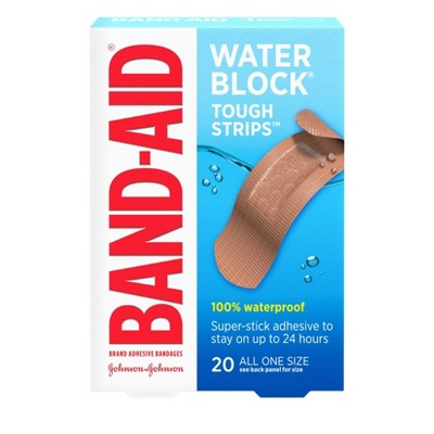 Band-Aid Brand Tough-Strips Waterproof Adhesive Bandages - 20ct