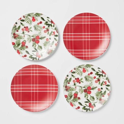 "6.8"" 4pk Melamine Appetizer Plates - Threshold™ - image 1 of 3"