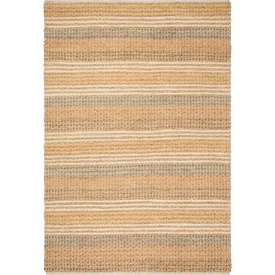 7'6 X9'6  Stripe Knotted Area Rug Light Gray - Safavieh