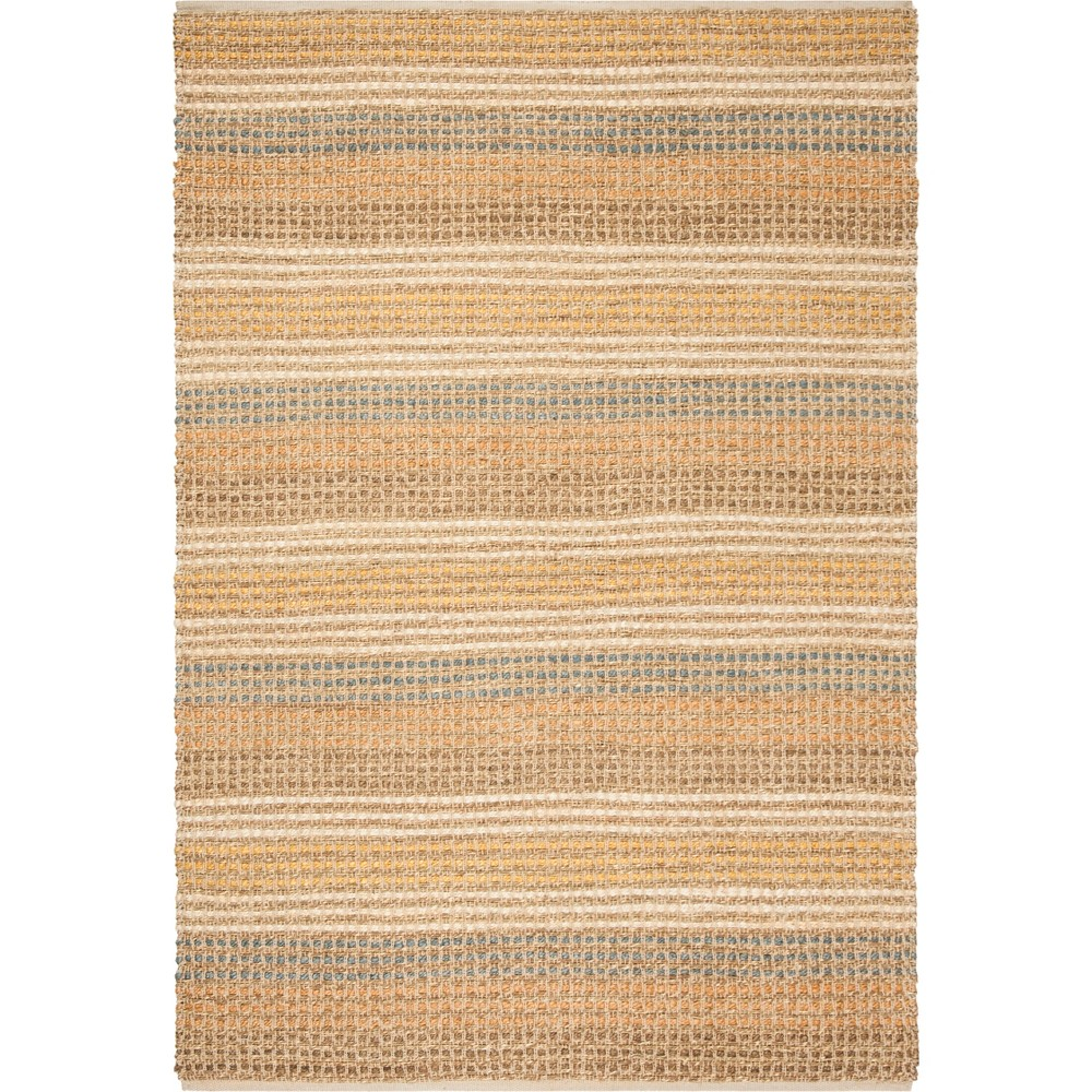 6'X9' Solid Knotted Area Rug Light Gray - Safavieh, Multicolored