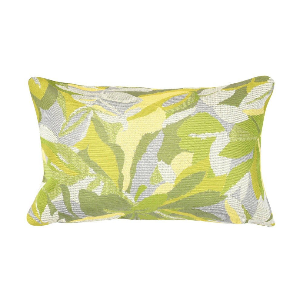 "Image of ""Pacifica Lumbar Throw Pillow Dewey Green - Astella, Size: 12""""x18"""""""