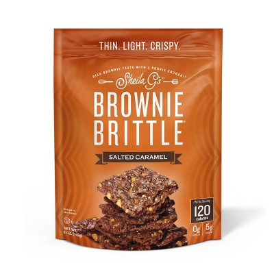 Sheila G's Brownie Brittle, Salted Caramel, Thin & Crunchy Cookies - 5oz