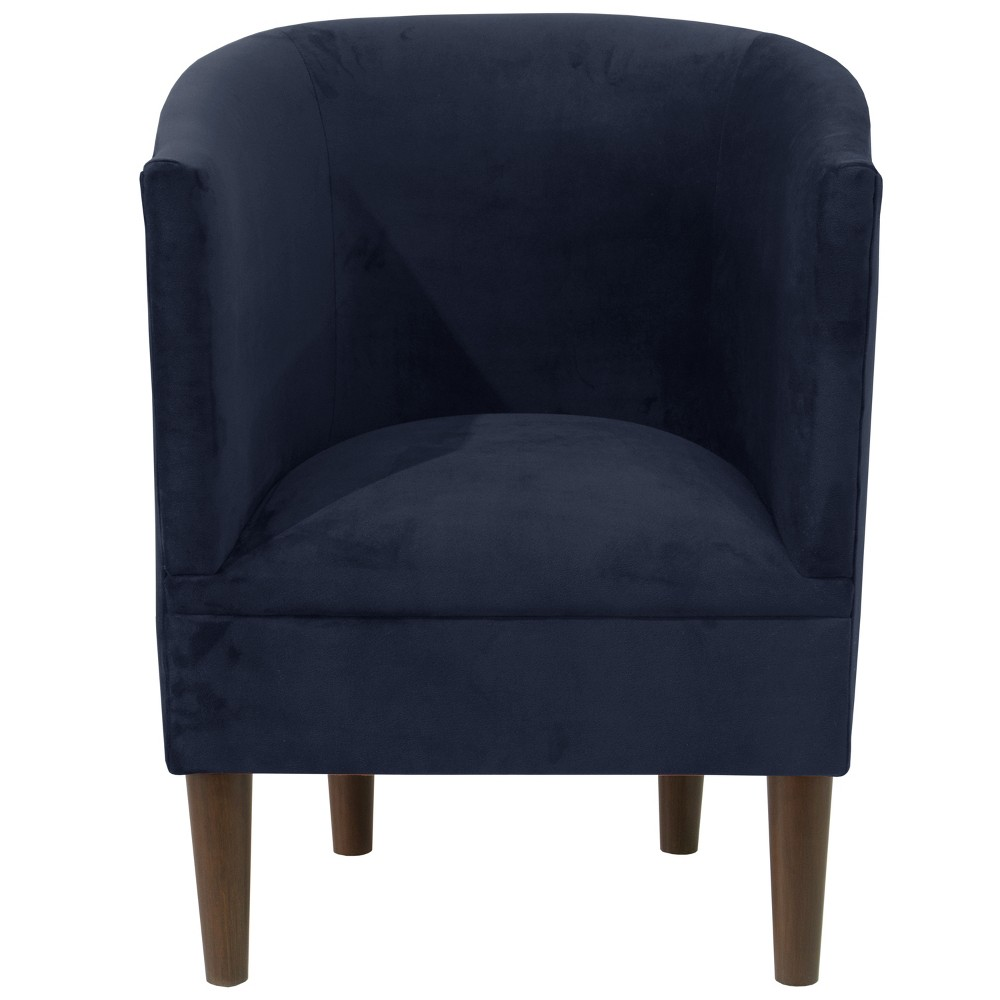 Tub Chair Velvet Ink - Skyline Furniture