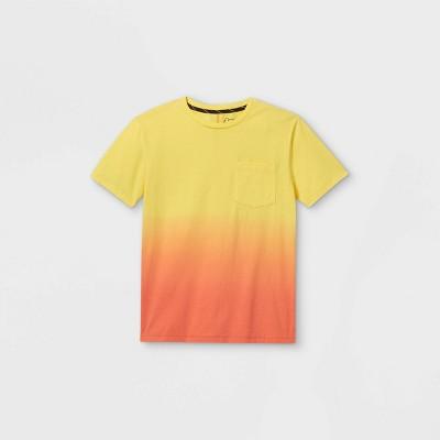Boys' Tie-Dye Short Sleeve T-Shirt - art class™ Yellow/Orange