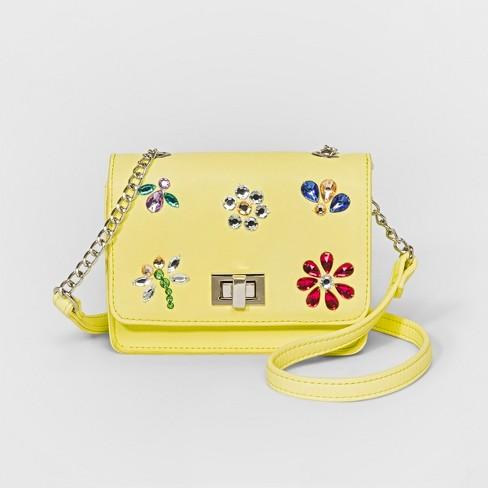 Girls' Crossbody Bag - Cat & Jack™ Yellow - image 1 of 1
